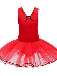 cheap -Girls' Ballet Party Costume Career Costumes Tutus Fashion Poly / Cotton Blend Arm Green Claret / Red Blushing Pink Dress / Kid's