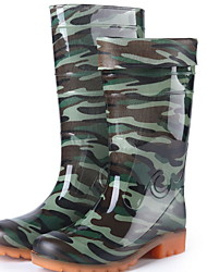 cheap -Men's PVC Spring & Summer Boots Waterproof Mid-Calf Boots Green