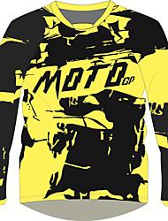 Недорогие -moto gp костюм для езды на мотоцикле желтый черный полиэстер / воздухопроницаемый / быстросохнущий верх быстросохнущая футболка с длинными рукавами мотоцикл оборудование для мотокросса влагоотводящий