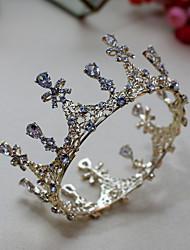 cheap -Women's Tiaras For Wedding Party Evening Prom Festival Artisan Alloy Golden White 1pc