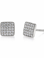 cheap -Women's Stud Earrings Classic Stylish Luxury Silver Plated Gold Plated Rose Gold Plated Earrings Jewelry Rose Gold / White / Yellow For Gift Formal Birthday 1 Pair