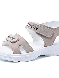 cheap -Women's Sandals Low Heel Round Toe Rubber Casual Walking Shoes Summer / Spring & Summer Gold / Silver / Pink