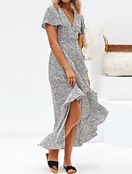 cheap -Women's A Line Dress - Polka Dot Peplum White S M L XL