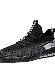 cheap -Men's Mesh Summer / Spring & Summer Sporty / Casual Athletic Shoes Running Shoes Breathable Black / Gold / Black / Silver
