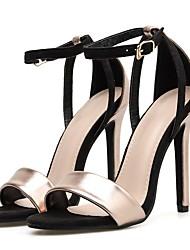 Недорогие -Жен. Обувь на каблуках На шпильке Заостренный носок Полиуретан Весна лето Золотой