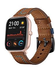 cheap -Genuine Leather Watchband for Amazfit GTS Xiaomi Straps Smart Soft Wristband Belt Metal Buckle Bracelet