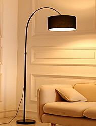 cheap -Simple / Modern Contemporary Arc Floor Lamp For Living Room / Study Room / Office 220V Black / White