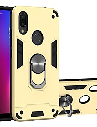 cheap -Case For Xiaomi Mi 9T/9T Pro / Redmi Note 7 Two-in-one Ring Holder Back Cover Armor TPU / PC For Redmi Note 7S/Note 6 Pro/S2/Y3/K20/K20 Pro