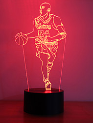 cheap -1Pc Usb Power Abstract Art 3D Lights Colorful Touch Gradient Vision Night Lights Colorful 3D Acrylic Table Lamp&Creative nightlights - Kobe Bryant