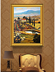 cheap -Framed Art Print Famous Impressionist Pastoral Scenery Modern PS Oil Painting Wall Art