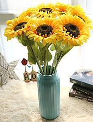 cheap -1pcs Sunflower Artificial Flower Home Decoration Wedding Fake Flower