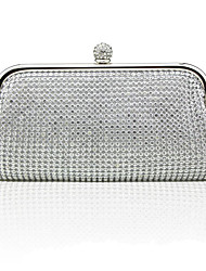 cheap -Women's Bags Alloy Evening Bag Glitter Crystals Solid Color Wedding Bags Party Event / Party Gold Silver