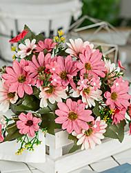 Недорогие -1 шт. 9 филиалов подсолнечника европейский моделирование цветок пластик искусственный шелк свадебные украшения дома маленькая ромашка