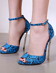cheap -Women's Heels Stiletto Heel Peep Toe PU Spring & Summer Fuchsia / Orange / Green