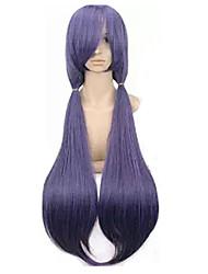 Недорогие -Lovelive Тоджо Нозоми Косплэй парики Жен. С 2 коньками 40 дюймовый Термостойкое волокно Естественные прямые Фиолетовый Лиловый Аниме