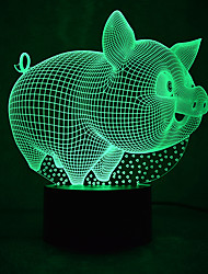 cheap -Irregular 3D Nightlight LED Night Light Color-Changing Creative with USB Port Button USB 1pc