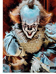 "cheap -Full Square Drill 5D DIY Diamond Painting ""Horror Clown"" Embroidery Cross Stitch Mosaic Home Decor Gift"
