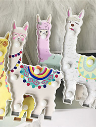 cheap -4pcs 3D Alpaca Shape LED Night Light Staycation AA Battery Power Home Table Decor Lamp Cute Lama Alpacas Gifts For Kids Gift Led Lighting