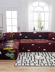 Недорогие -мультфильм принт кактус пылезащитный всесильный чехлы стрейч l форма диван супер мягкая ткань чехол с одной свободной наволочкой