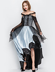 cheap -Witch Outfits Party Costume Adults' Women's Halloween Halloween Festival / Holiday Tulle Polyster Black Women's Carnival Costumes / Dress / Hat