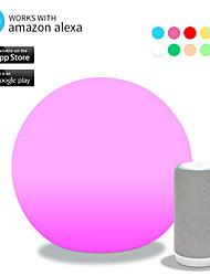 Недорогие -светодиодный смарт-ночной свет с голосовым управлением Wi-Fi приложение контроля разнообразных форм атмосфера настольная лампа работа с Амазонкой Алексой помощник Google