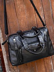 Недорогие -Спортивный PU Молнии Дорожная сумка Сплошной цвет на открытом воздухе Черный / Коричневый