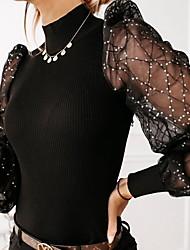 cheap -Women's Polka Dot Blouse Daily White / Black