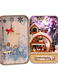 cheap -Dollhouse Miniature Room Accessories DIY Hand-made Parent-Child Interaction Furniture Metal City View 1 pcs Teenager All Toy Gift
