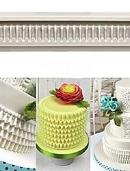 Недорогие -сделай сам выпечки трехмерной кружевной отделкой силиконовые формы юбка торт украшение 1 шт.
