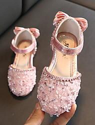 cheap -Girls' Comfort PU Flats Toddler(9m-4ys) Black / Pink / Silver Spring