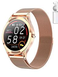 Недорогие -JSBP MK10 Smart Watch BT Поддержка фитнес-трекер уведомить / монитор сердечного ритма Спорт из нержавеющей стали Bluetooth-совместимые SmartWatch IOS / Android телефоны TWS распределение ухо машина