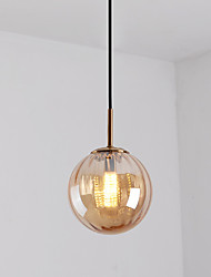 cheap -15 cm Single Design Pendant Light Metal Glass Electroplated / Painted Finishes Nordic Style 110-120V / 220-240V