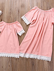 cheap -Mommy and Me Color Block Clothing Set Blushing Pink