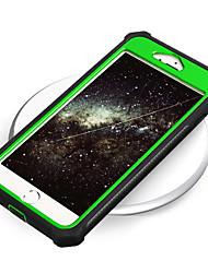 Недорогие -чехол для яблока iphone 8 plus / iphone 8 / iphone 7 plus зеркало задняя крышка сплошной цвет искусственная кожа