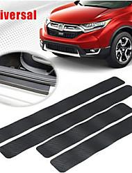 Недорогие -4шт 4d дверные защитные кожухи защитная крышка от царапин порог краски из углеродного волокна резиновые автомобильный бампер защитная крышка двери / задний бампер защитная полоса от царапин (0,05 мм)