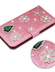 cheap -Case For Samsung Galaxy A51 / M40S / A71 Wallet / Shockproof Christmas Tree Diamond Glitter PU Leather Case For Samsung S20 Plus / S20 Ultra /A20e /A50s /A30s /A10 /A60 /A70 /A80 /S10E/S10 5G/S10 Plus