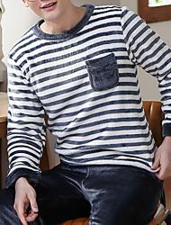 cheap -Men's Suits Nightwear Blue White Light gray L XL XXL