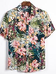 cheap -Men's Geometric Shirt Daily Classic Collar Blushing Pink / Short Sleeve