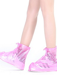 cheap -Unisex Boots Flat Heel Round Toe PVC Booties / Ankle Boots Spring & Summer White / Red / Blue