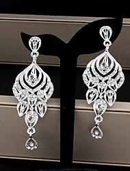 cheap -Women's Drop Earrings Dangle Earrings Pear Cut Drop Fashion Elegant Earrings Jewelry Gold / Silver For Wedding Party Anniversary Prom 1 Pair