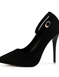 cheap -Women's Heels Stiletto Heel Pointed Toe Suede Spring & Summer Black / Brown / Wine