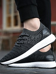 cheap -Men's Mesh Fall / Spring & Summer Sporty / Casual Athletic Shoes Running Shoes / Walking Shoes Breathable Dark Grey / Light Grey / Black