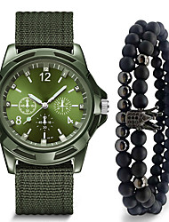 cheap -Men's Dress Watch Quartz Modern Style Black / Blue / Green 30 m Casual Watch Large Dial Analog Casual Army - Green Blue Black One Year Battery Life