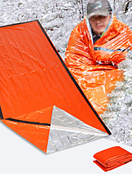 cheap -Emergency Blanket Emergency Sleeping Bag Outdoor Camping Envelope / Rectangular Bag Single Synthetic Thermal Warm Radiation Protection Heat Retaining Heat-Insulated 213*91 cm All Seasons for Camping
