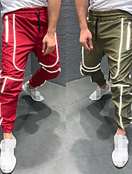 cheap -Men's Joggers Jogger Pants Running Pants Track Pants Sports Pants Athletic Athleisure Wear Bottoms Reflective Strip Drawstring Fitness Running Jogging Reflective Breathable Quick Dry Sport Black Red