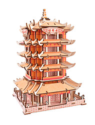 cheap -3D Puzzle Jigsaw Puzzle Wooden Puzzle Famous buildings Chinese Architecture DIY Simulation Parent-Child Interaction Wooden Chinese Style Kid's Adults' Unisex Boys' Girls' Toy Gift