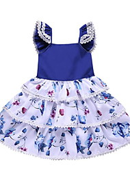 cheap -Toddler Girls' Floral Dress Blue