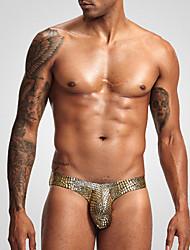 Недорогие -Муж. Классический Боксеры - Нормальная 1 шт. Заниженная Золотой Синий Серебряный M L XL