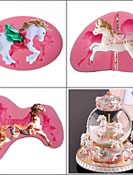 Недорогие -3d карусель торт силиконовые формы помадка для украшения торта инструменты