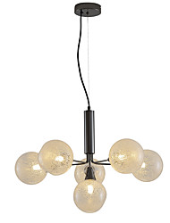 cheap -6-Light 55 cm Lantern Desgin Chandelier Metal Glass Contemporary / Nordic Style 110-120V / 220-240V